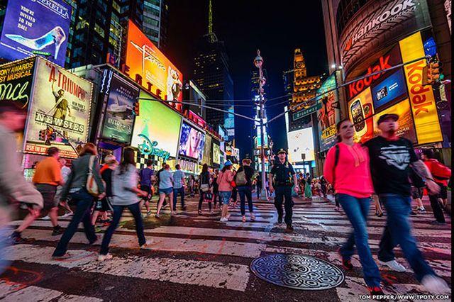 Фотограф Том Пеппер - День обычного туриста в Нью-Йорке.