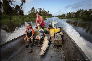 Фотограф Джонни Хаглунд - охота на аллигаторов в штате Луизиана, США