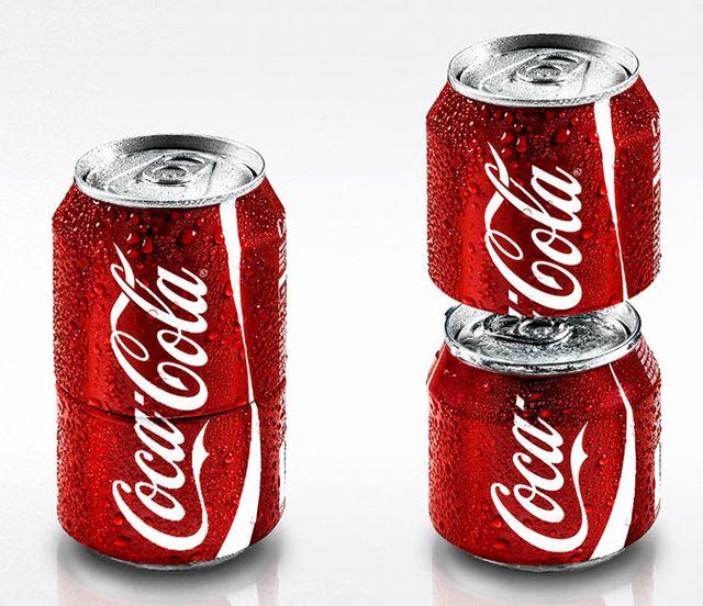 Двойная банка Coca-Cola