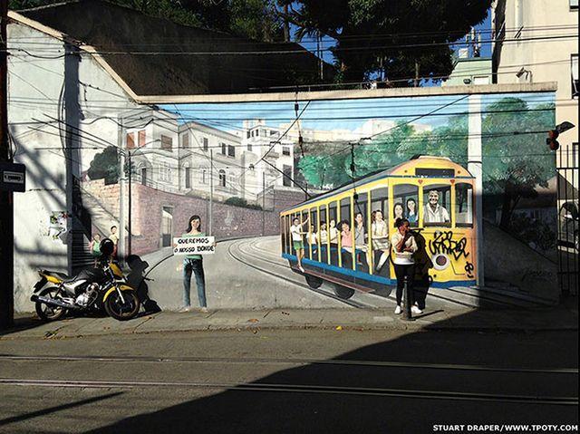 Фотограф Стюарт Дрепер - фото стрит-арта в Санта-Тереза, Рио-де-Жанейро.