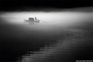 Фотограф Джино Ли - фото рыбака на реке Дунцзян в Китае