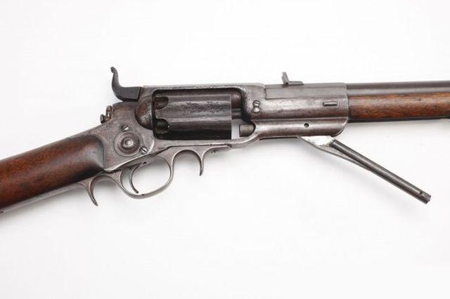 Кольт 1855 модели - револьверная ударная военная винтовка.