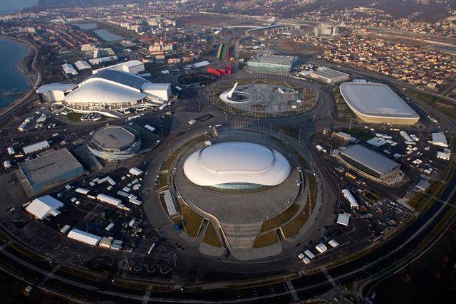 Олимпийский парк Сочи 2014 с вертолета