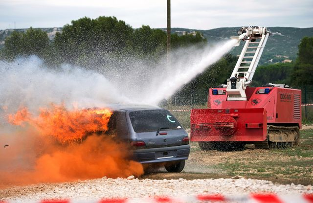 MVF-5  - многофункциональная роботизированная система пожаротушения