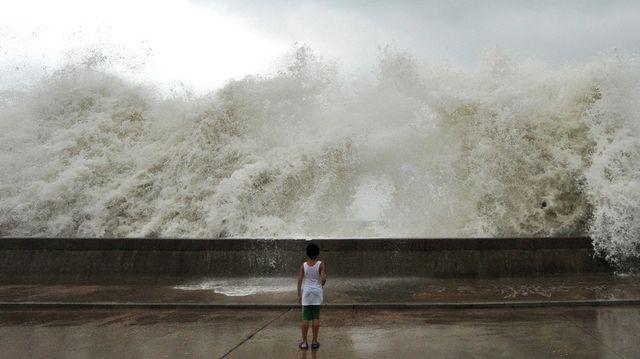 Тайфун в Циндао, Китай