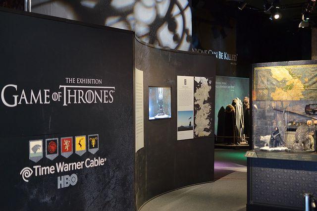 Начало выставки Game of Thrones