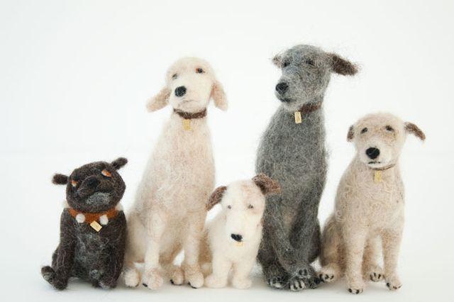 Собачки из шерсти