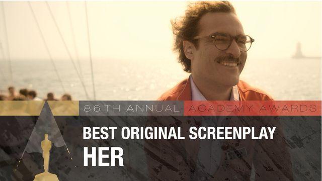 Лучший оригинальный сценарий Спайк Джонз — «Она»