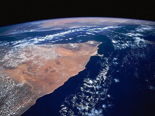 Вид Сомали из космоса