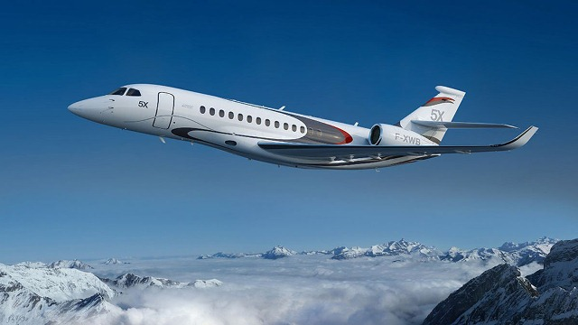 $45 Million Falcon 5X Private Jet