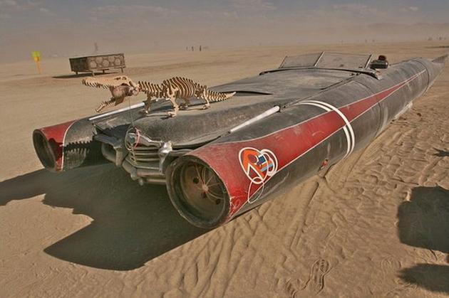 Dino-Car-Burning-Man