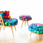 Прогрессивный подход к созданию мебели: шелк, поп-арт и немного хиппи