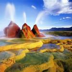 Уникальные марсианские пейзажи в штате Невада, США