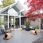 Калифорнийский коттедж вяпонском стиле свнутренним двориком