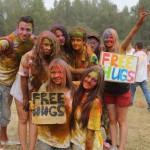 Киевский фестиваль красок «Холи»: дружба, любовь, позитив