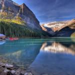 Самое изумрудное озеро в мире — Луиза в Канаде