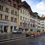 Обычный швейцарский городок Аарау